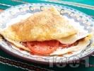 Рецепта Омлет с колбас и домати